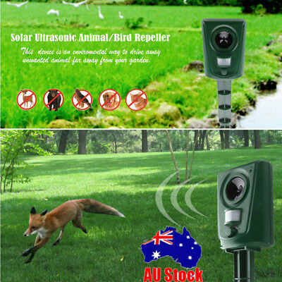 Solar Battery Powered Ultrasonic Snake Rat Bird Animal Repeller Pest Repellent