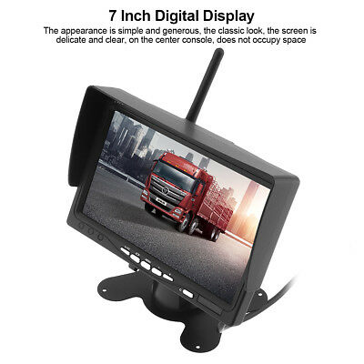 Wireless Backup Camera System+7'' TFT LCD Car Rear View Monitor for Truck Bus RV