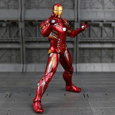 1.Iron Man Actionfigur Marvel Avengers Film Movie DVD Figur Statue Sammler Kult