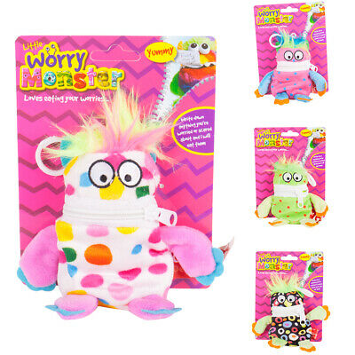 Kids Clip On Plush Worry Monster Keyring - Eat Your Worries Toy