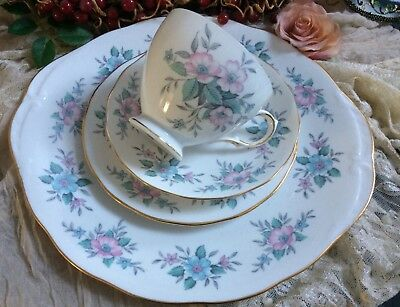 Colclough Coppelia afternoon tea cup saucer tea plate and cake plate vintage