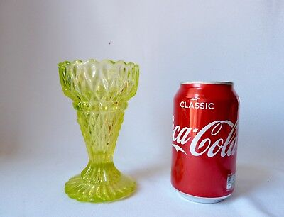 ANTIQUE  VICTORIAN VASELINE URANIUM GLASS VASE, h13,3cm