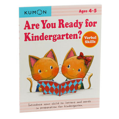 NEW Book Kumon Are You Ready For Kindergarten? Verbal Skills