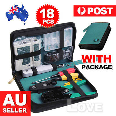 RJ11 RJ45 Cable Tester Crimping Crimper Stripper Network Punch down Impact Tool