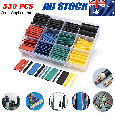 530 PCS/Set Heat Shrink Tubing Tube Assortment Wire Cable Insulation Sleeving