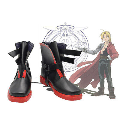 New Arrival Anime Fullmetal Alchemist Edward Elric Cosplay Shoes Handmade