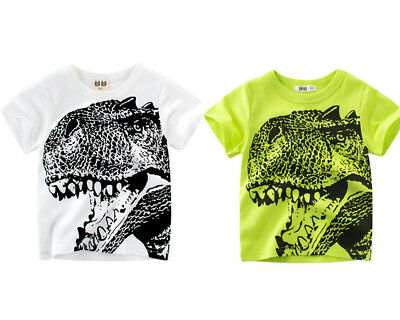Cotton Shirts Baby Boy Clothes T-shirt Child Toddler Girls Tees Tops Dinosaur
