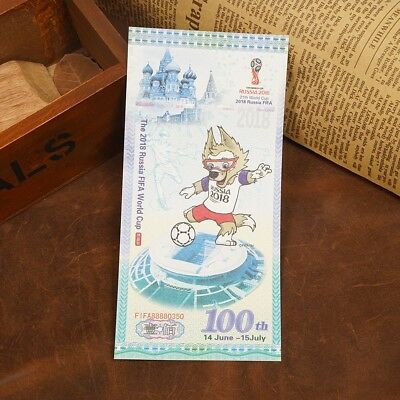 2pcs 2018 Russia World Cup Spicemen Commemorative Souvenir Banknotes