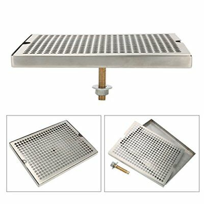 "NEW 12"" Surface Mount Kegerator Beer Drip Tray Stainless Steel Tower No Drain"
