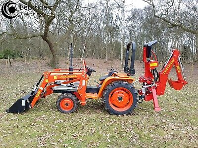 KUBOTA UK FRONT Loader Tractor with compact tractor backhoe attachment
