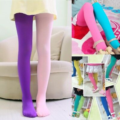 Kids Girls Leggings Double Candy Color Warm Stockings Tight Underpants Trousers