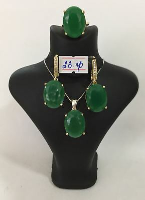 925 Sterling Silver Handmade AAA Quality Jewelry Emerald Ladies Full Set