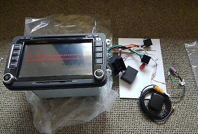7 Inch Head Unit Double Din Car Bluetooth Stereo DVD for VW Skoda Seat