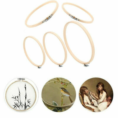 Embroidery Hoop Set Bamboo Circle Cross Stitch Hoop Tapestry Ring Sewing Tool