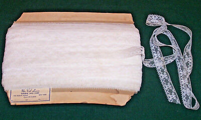 """50 Yards Vintage Net Lace Trim, 3/4"""", Carded Store Stock, Sold By The Yard, 1940"""