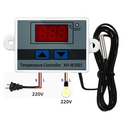 XH-W3001 DC 12/24/220V 10A Digital Temperature Controller Thermal Regulator