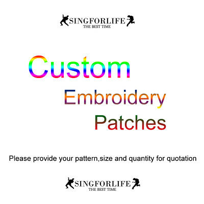 Custom Logo Embroidered Patches Iron On Patch Sew On Patchs for Clothes Hats Cap