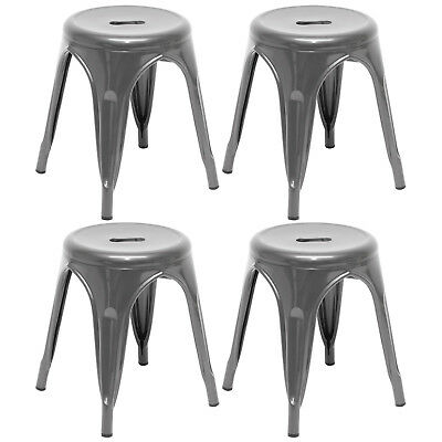 Gunmetal Metal Round Stool Seat/chair/office Industrial Vintage/classic Style