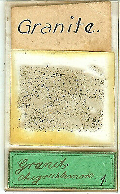 Granite from Aughrismore Galway Ireland Petrographic Microscope Slide