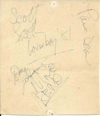 Loverboy 1981 Signed Album Page By 4