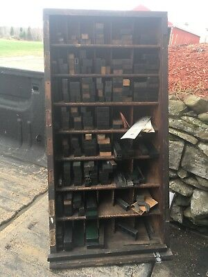 Printers Letterpress Samuel Stephens Boston Furniture Cabinet With Accessories