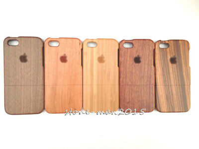 Natural Wood Wooden Bamboo Case cover+Film for iPhone 8 7  Plus 6 6s Plus SE 4s