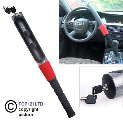 Anti Theft Extendable Steering Wheel Lock Double Hook Car Van Security