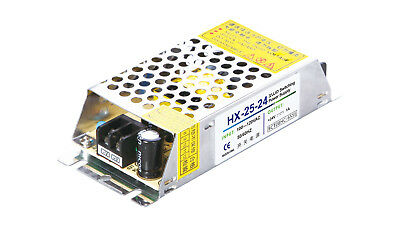 120-240V to 24VDC 1.04A, 25W, Open Frame Switching Power Supply - Ideal for LED