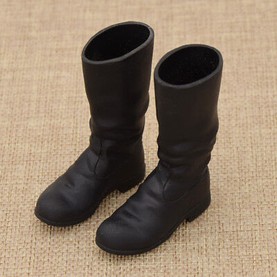 1/6 Scale Model Shoes Mini Black Long Boots for 12'' Action Figure Child Toy