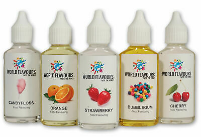 30 Highly Concentrated Liquid Food Flavouring Cakes Drinks Sweets Baking Candy