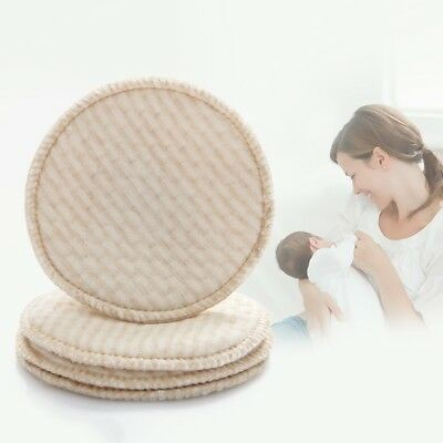 4PCS Breast Pads Reusable Mother Nursing Pad Soft Absorbent Baby Feeding Cover