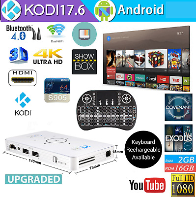 2019 MAY Version Android Smart TV Box C6 Projector 4K Quad-Core 2GB+16G