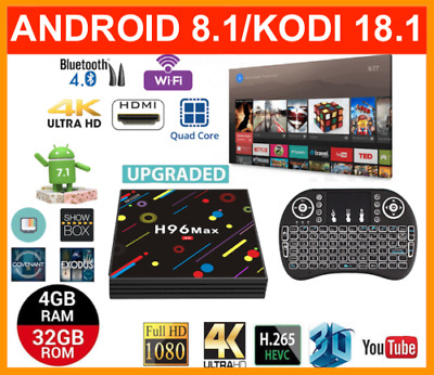 2019 MAY Release Version Android Smart TV Box H96 MAX 4K QuadCore 4GB+32GB