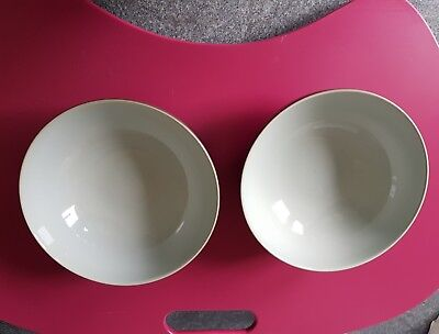 TWO DENBY EVERYDAY Teal Cereal Bowls - 17cm - £8.50 | PicClick UK