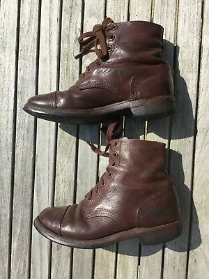 British Boots WW2 era Leather Boots 1940's Ankle Boots