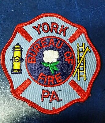 Vintage York, Pennsylvania Bureau Of Fire Patch Pa