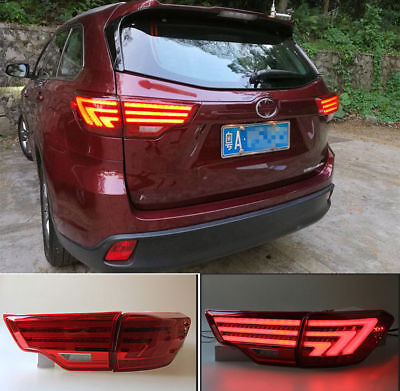 Red LED Rear Tail Light Lamp Assembly Modified for Toyota HighLander 2014-2018