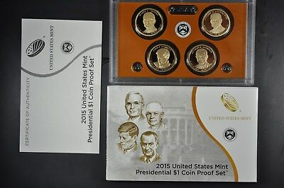 2007 S U.S Mint President 4 coin Proof set with original mint packaging and COA