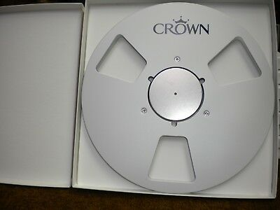 "New!  Crown Silver 10.5"" inch Metal Reels for 1/4"" tape- Mint Condition"