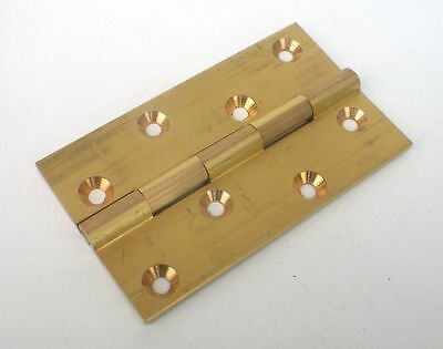 Hinge Butt 102 x 60 x 3.3mm pk1 Solid Brass Self Colour Heavy UK made c details
