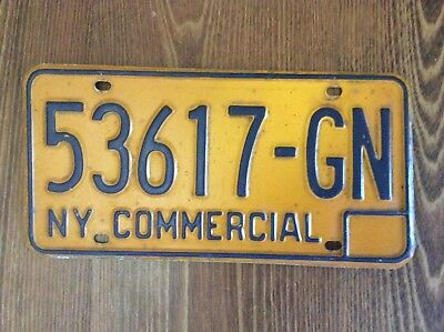 New York License Plate Commercial - Vintage Yellow