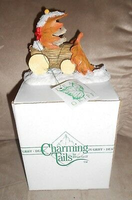"""Charming Tails by Dean Griff #87566 """"Snow Plow Figurine""""  - Very Nice w/Box"""