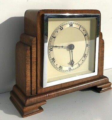 A Walnut Elliott Empire State Quality Mantle Clock