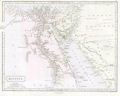1864 - Original Antique Map of ANCIENT EGYPT & ARABIA (23)