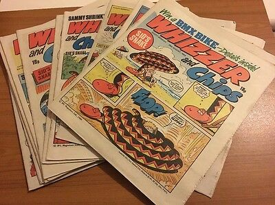 12 Whizzer and Chips Comics From The 1980's *Great Condition *