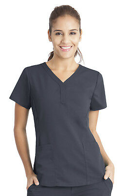 "Purple Label Women's ""Jane"" 2167 V-Neck 2 Pocket Top by Healing Hands Scrubs"