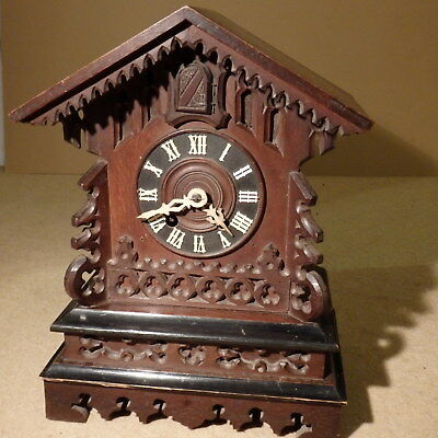 Black Forest 19th c. spring driven cuckoo clock
