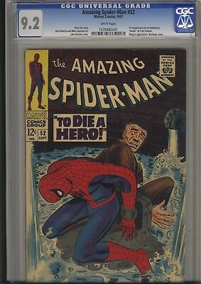 Amazing Spider-Man #52  Cgc  9.2 Nm-    Almost Perfect    50-Years Old  Kingpin