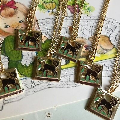 6 Party Favors,Bambi Necklaces,Signed Necklace,Emmons necklace,Deer Necklace G57