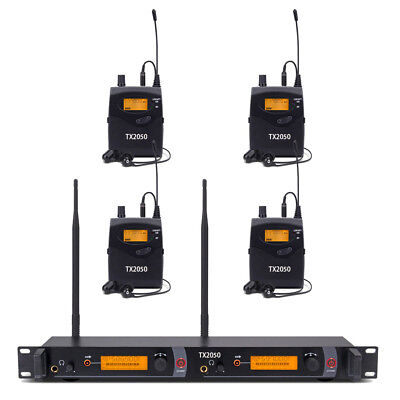 Pro In Ear Monitor System UHF Wireless Professional Audio 4 Receiver Whole Metal